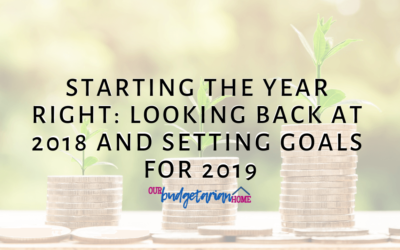 Starting the Year Right: Looking Back at 2018 and Setting Goals for 2019
